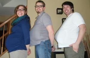 Cassie, Frank & JD at 17 weeks