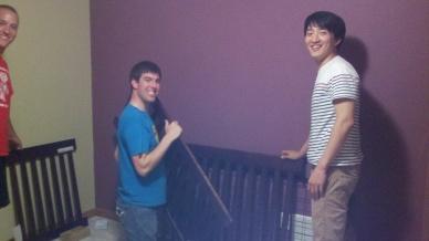 Sam, Ryan & Jo building a crib