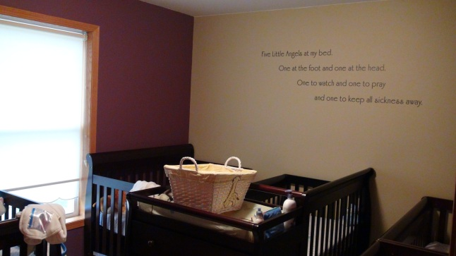 Mommy and Daddy build the babies a beautiful new nursery.