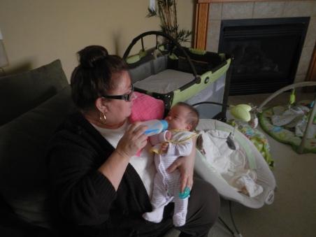 Aunt Cindy feeding Kali